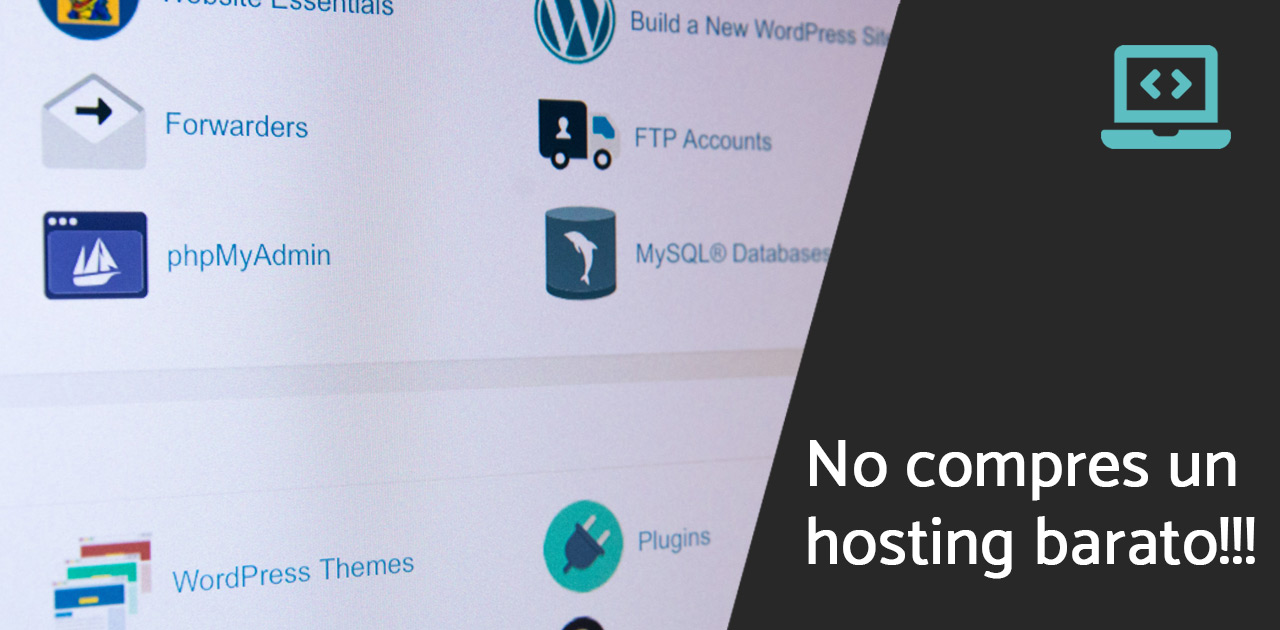 No compres hosting barato